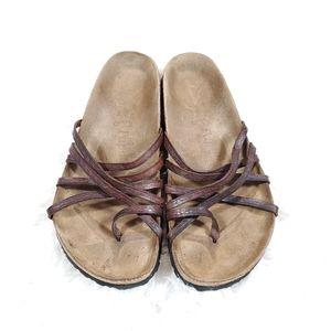 Birkenstock Papillio leather strappy sandals